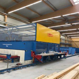 Aufbau Maschinenpark SBS Werk in Friesenheim